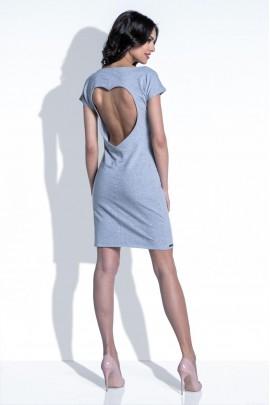 Платье Fobya F398 серый