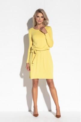 Платье Fobya F563 жёлтый