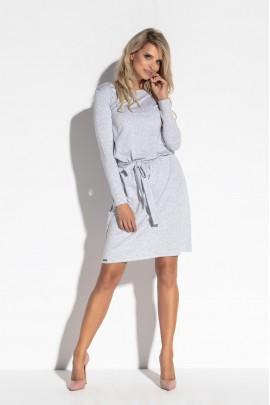 Платье Fobya F563 серый