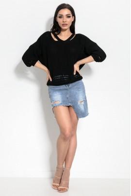Блузка Fimfi i319 чёрный