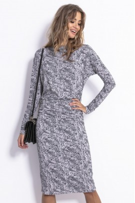 Платье Fobya F819 серый