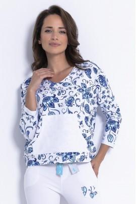 Блуза Fobya F878 пейсли