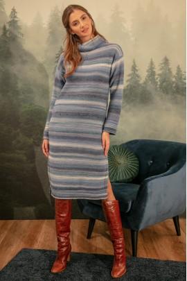 Платье Fobya F1152 голубой