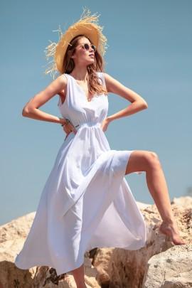Платье Fobya F737 белый