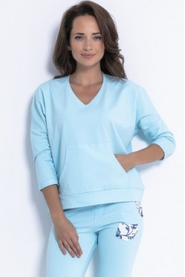 Блуза Fobya F872 св-голубой