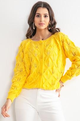 Кофточка Fobya F1161 yellow