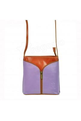 GREGORIO 114 св.фиолет сумка жен. кожа