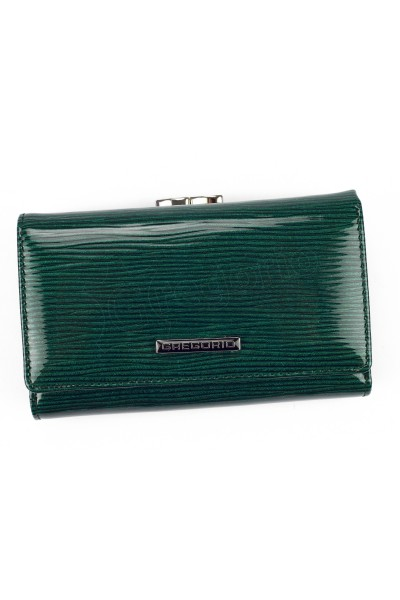 GREGORIO LN-108 зелёный кошелёк жен.
