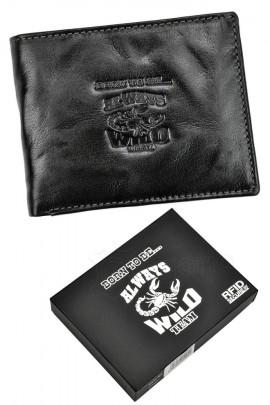 Always Wild N992-BC RFID чёрный кошелёк