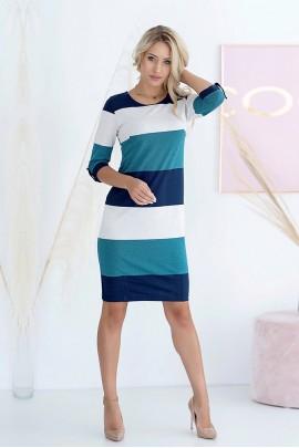 Платье Hajdan SUK 007 син-лён-морской