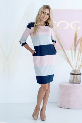 Платье Hajdan SUK 007 серый-син-роз