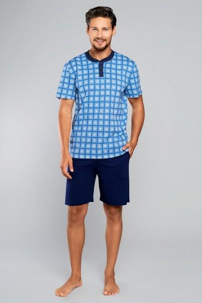 Пижама SERAFIN кор.рук. синий