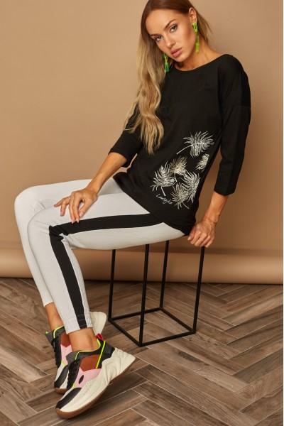 Блузка LAMAJKA 9244 SIZE+ чёрный хлопок