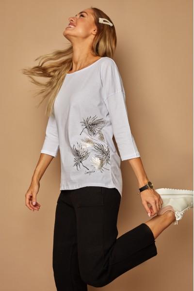 Блузка LAMAJKA 9243 белый хлопок