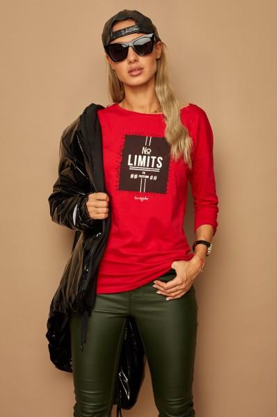 Блузка LAMAJKA 9253 красный хлопок