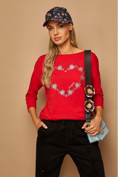 Блузка LAMAJKA 9257 красный хлопок