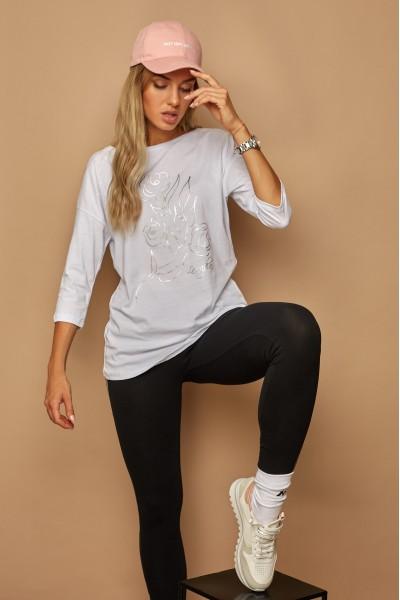 Блузка LAMAJKA 9259 белый хлопок