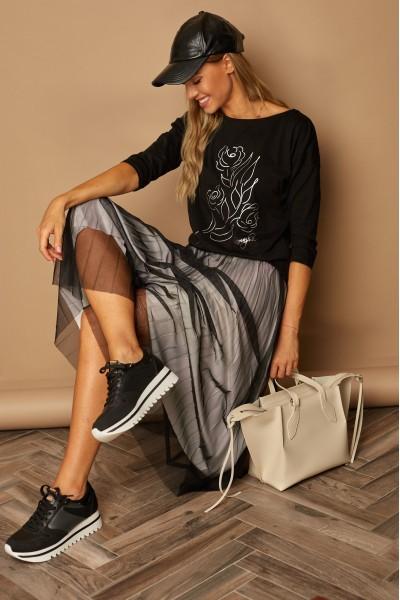 Блузка LAMAJKA 9259 чёрный хлопок
