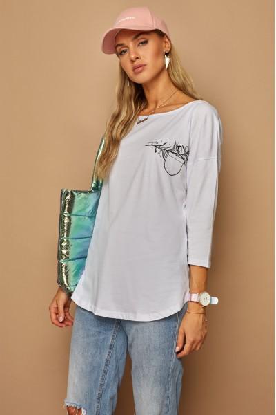 Блузка LAMAJKA 9262 белый хлопок