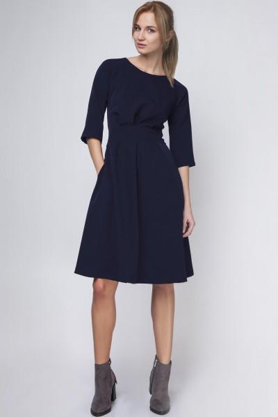 Платье SUK122 тёмно-синий