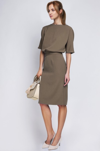 Платье SUK123 хаки