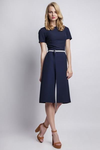 Платье SUK128 тёмно-синий