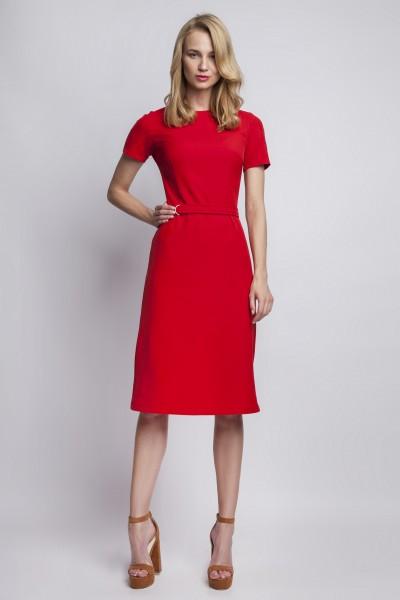 Платье SUK128 красный