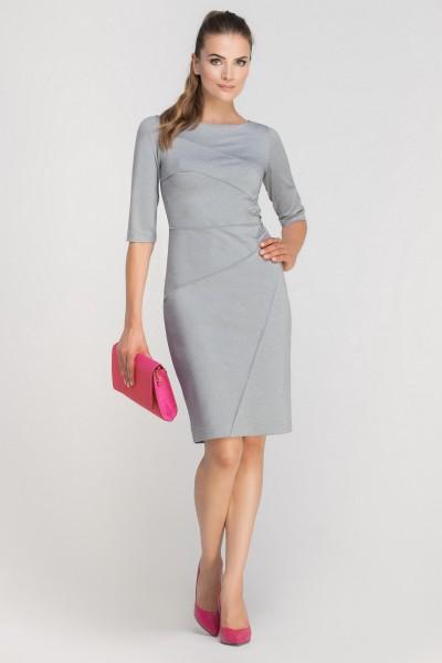 Платье SUK146 серый