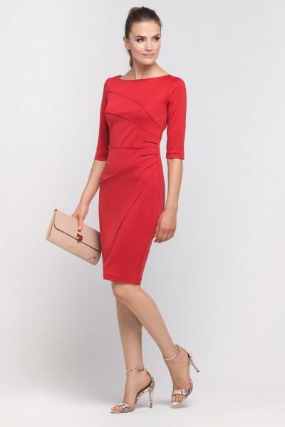 Платье Suk146 красный