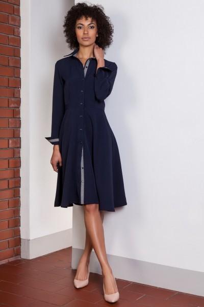 Платье SUK151 тёмно-синий