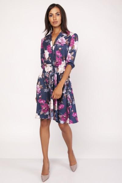 Платье SUK155 цветы
