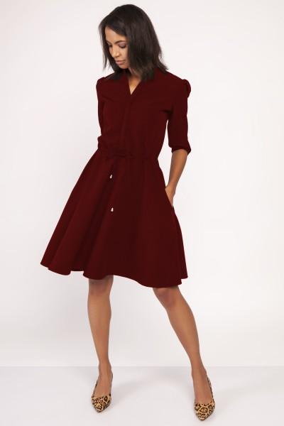 Платье SUK156 бургунд