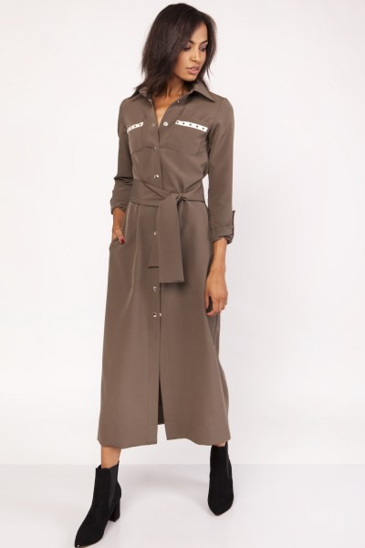 Платье SUK157 хаки