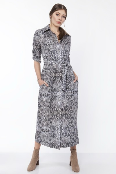 Платье SUK159 змеиная кожа
