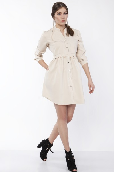 Платье SUK163 беж