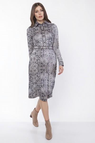 Платье SUK165 змеиная кожа