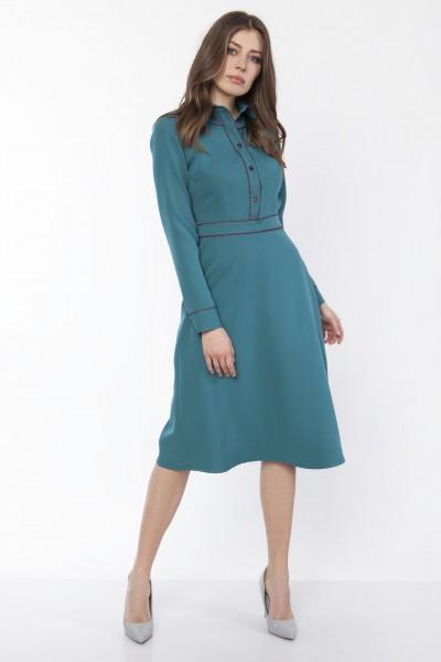 Платье SUK167 изумруд