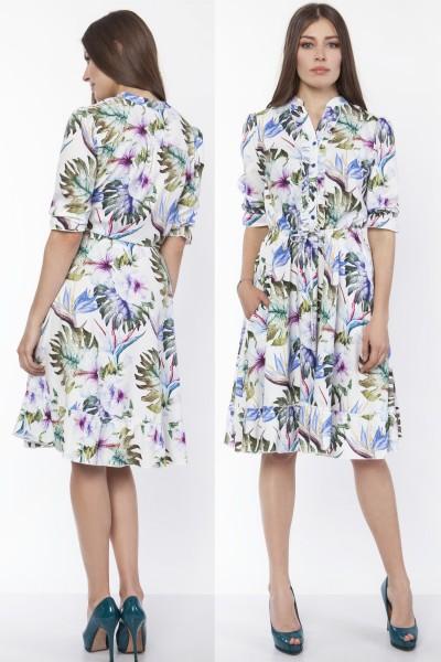 Платье SUK168 листики