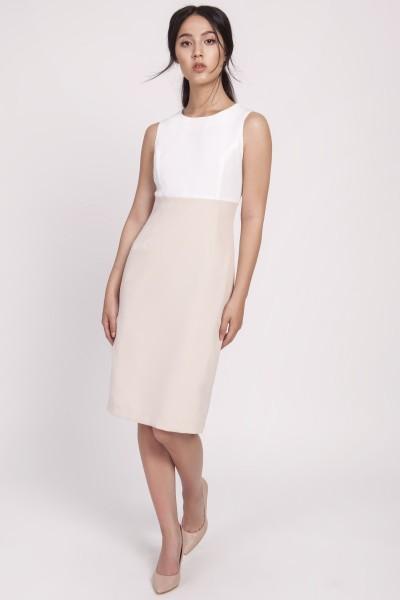 Платье SUK170 беж