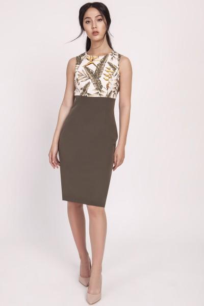 Платье SUK170 хаки