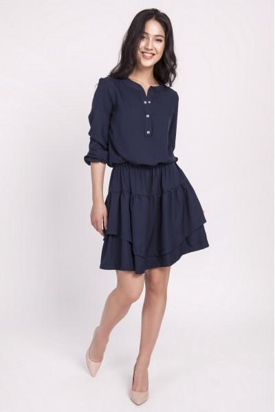 Платье SUK175 тёмно-синий