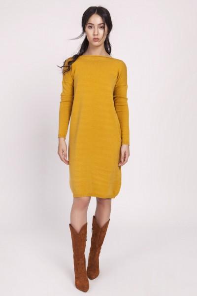 Платье SWE122 горчица