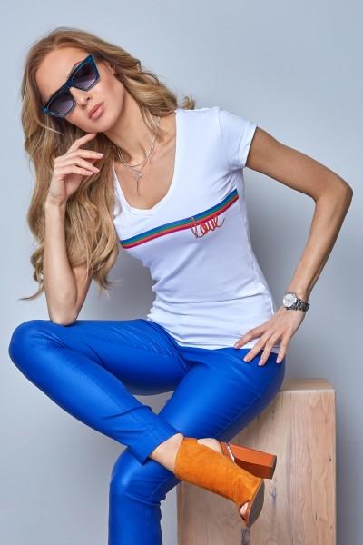 Блузка Latynka 6289 тёмно-синий
