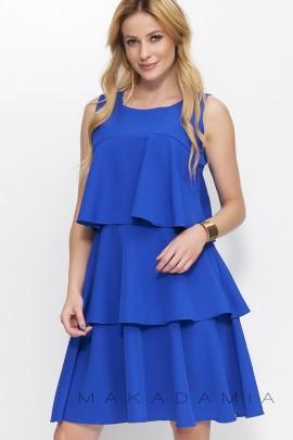 Платье MAKADAMIA M381 cиний
