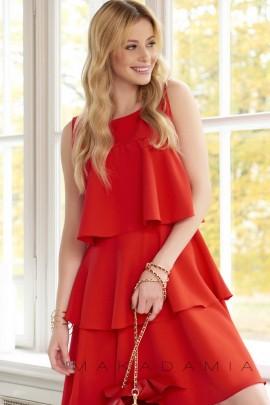 Платье MAKADAMIA M381 красный