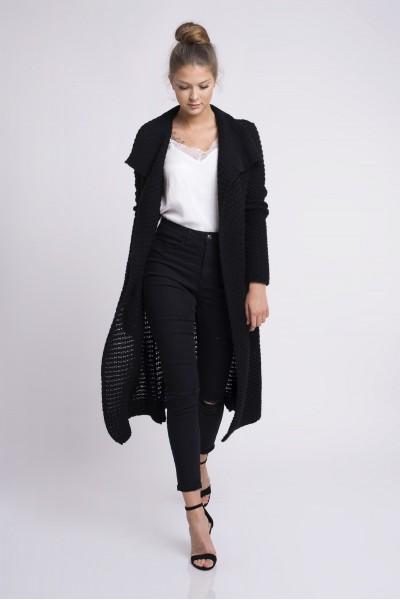 Пальто MARTAR HAZEL чёрный с карманами
