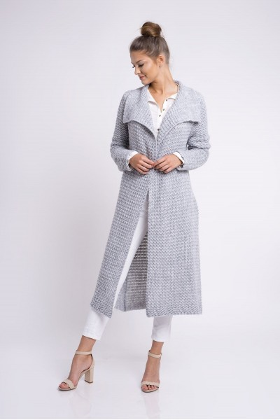 Пальто MARTAR HAZEL серый с карманами