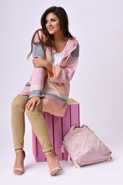 Кардиган MARTAR LUCY розовый с капюшоном