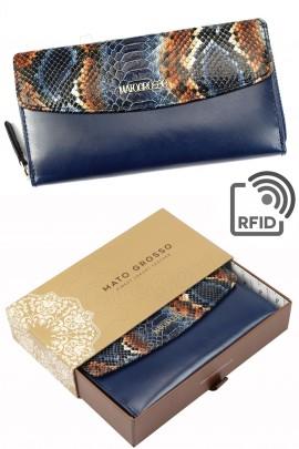 MATO GROSSO 0635-71 RFID синий кошелёк жен.