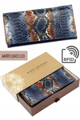 MATO GROSSO 0721-71 RFID синий кошелёк жен.